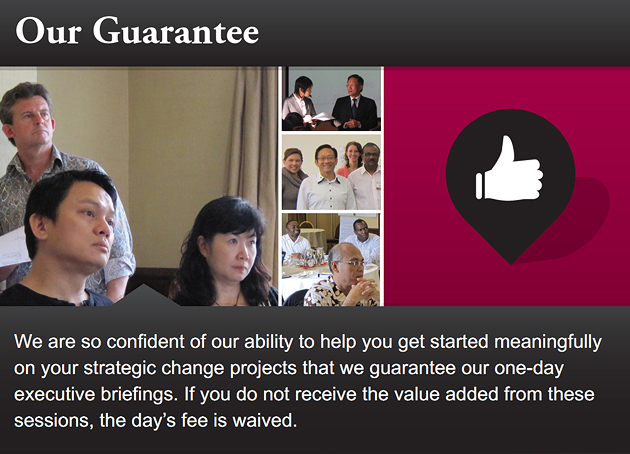 Guarantee by Haines Centre Asia
